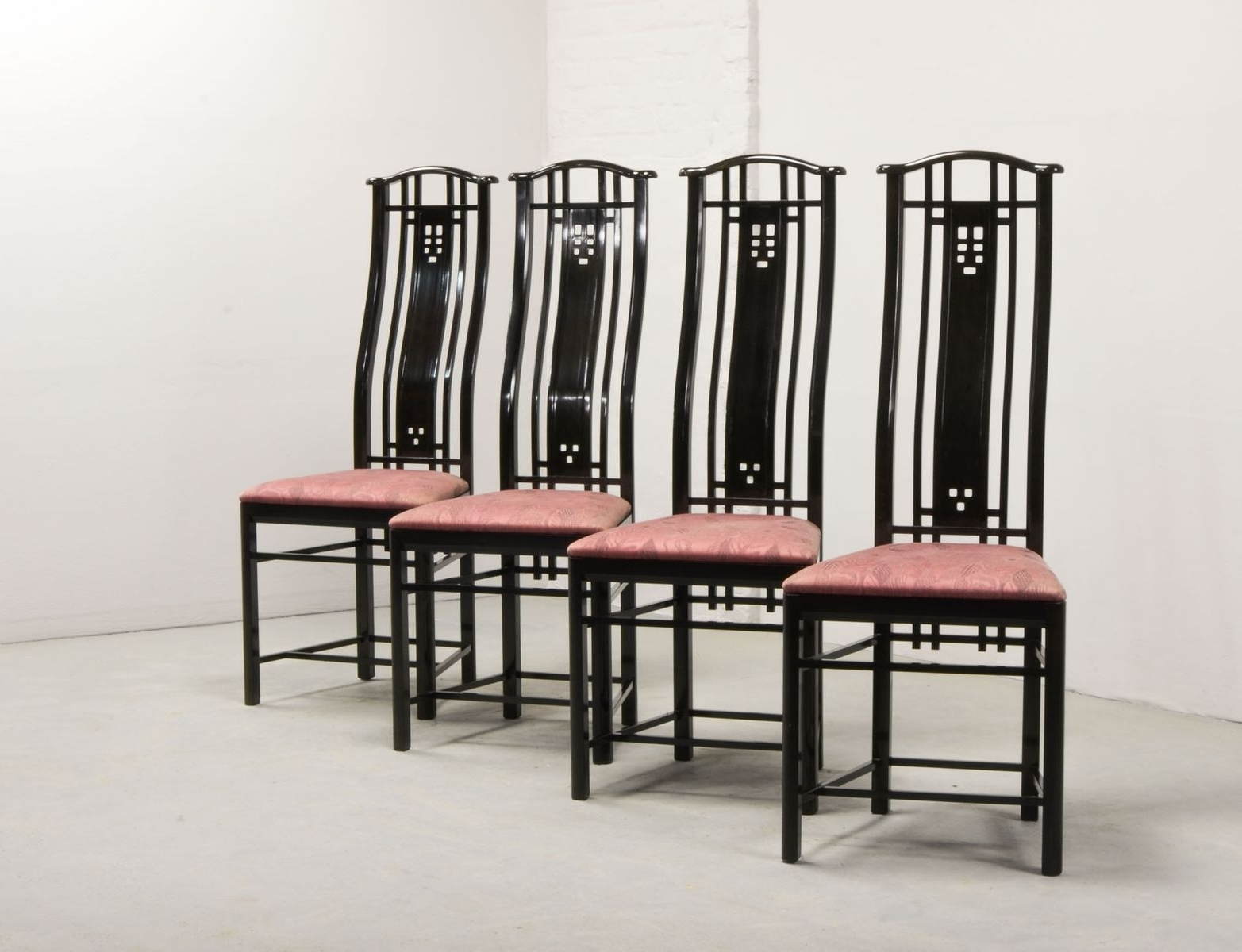 High Back Dining Chairs From Giorgetti, 1980S, Set Of 4 For Sale At With Regard To Favorite High Back Dining Chairs (View 11 of 25)