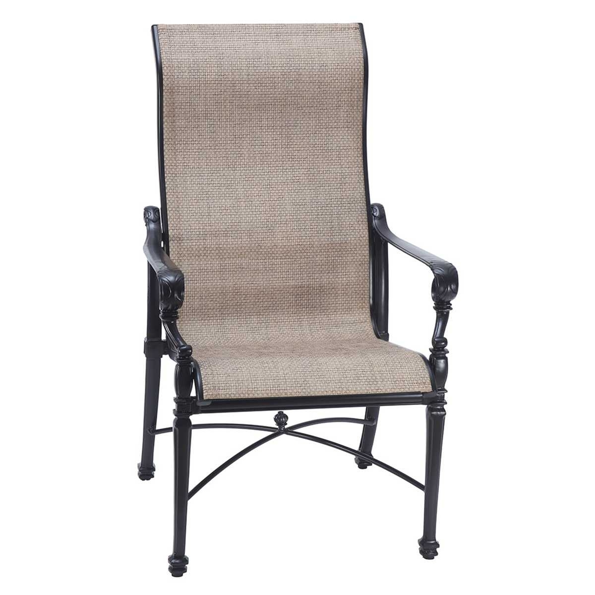 High Back Dining Chairs Regarding Latest Grand Terrace Sling High Back Dining Chair (View 24 of 25)