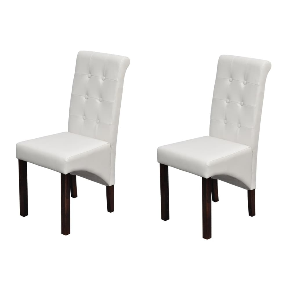 High Back Leather Dining Chairs Intended For 2017 6X Pu Leather Dining Chairs White Kitchen Stool High Back Seat (View 17 of 25)