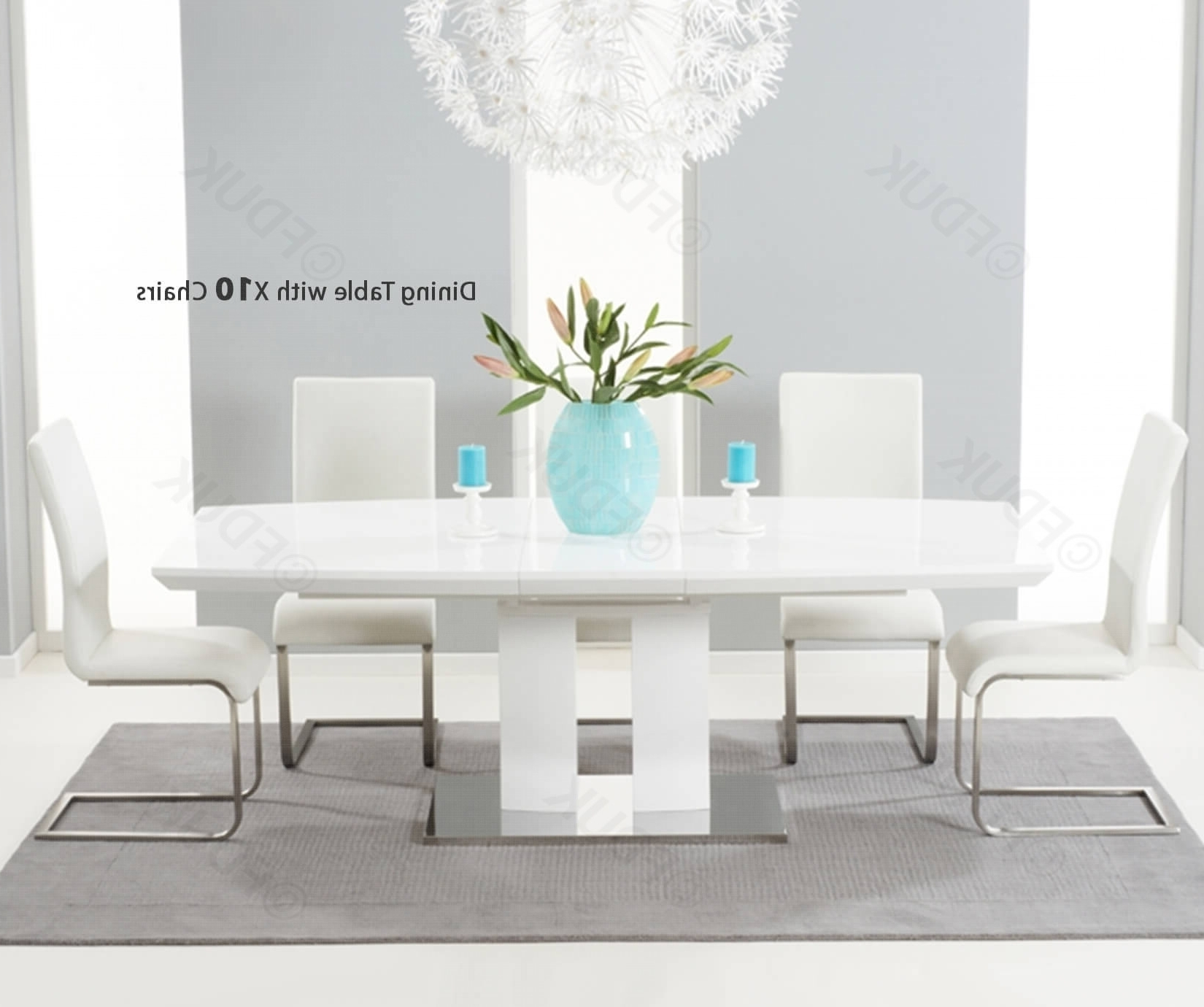 High Gloss Dining Sets Pertaining To Most Up To Date Mark Harris Rossini White High Gloss Dining Set – 180Cm Rectangular (Gallery 19 of 25)