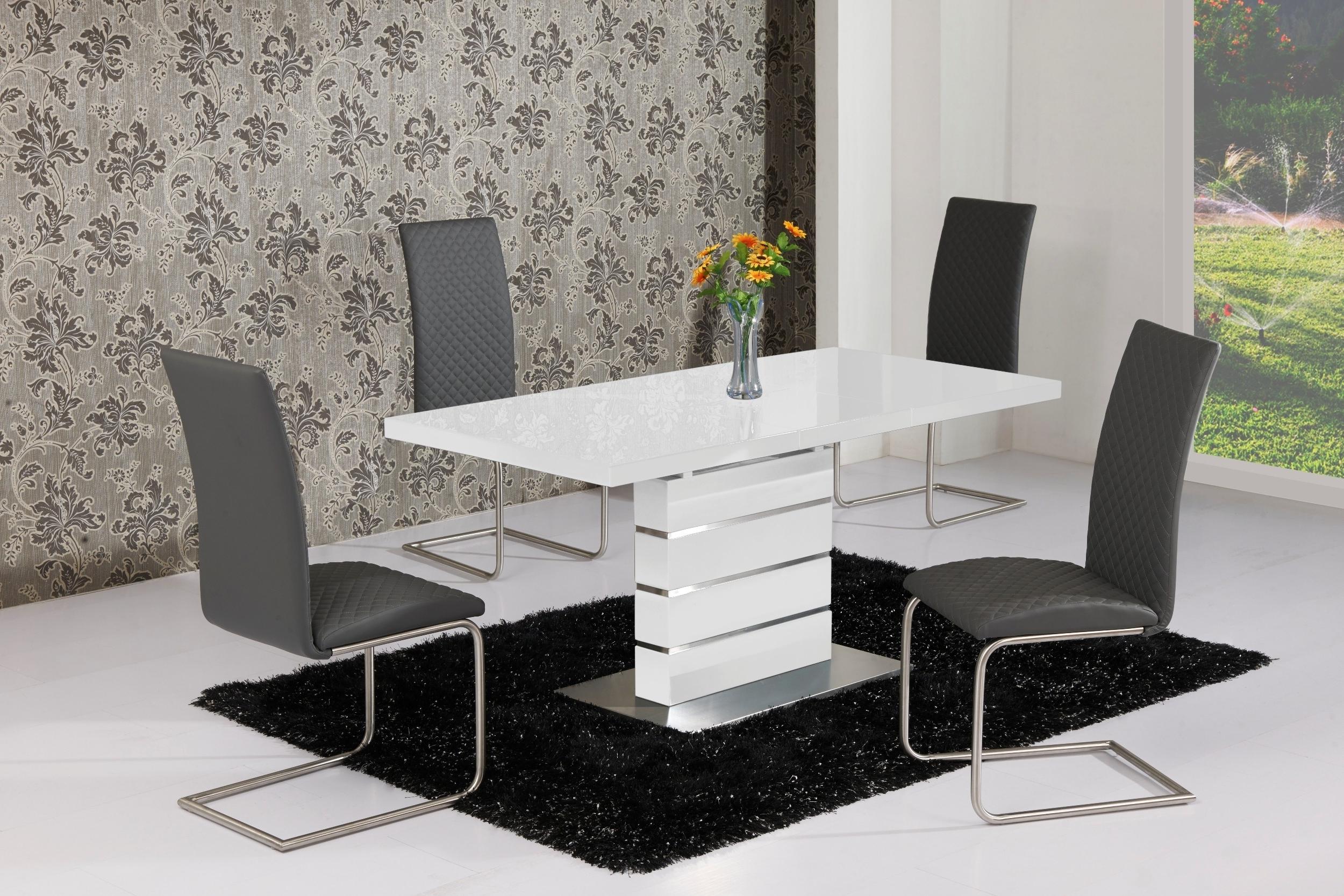 High Gloss Dining Tables intended for Trendy Buy Allison Stylish High Gloss White Extending Table 120Cm - 160Cm