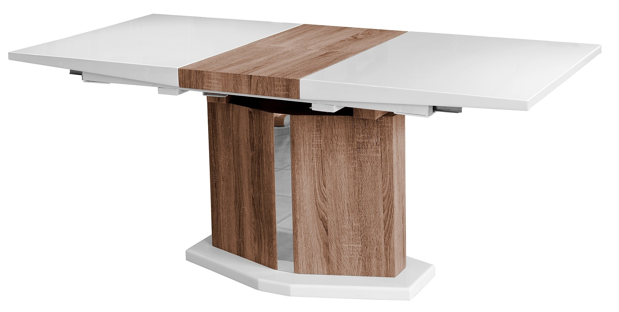 High Gloss White Extending Dining Table - Be Fabulous! in Most Recently Released Extending Gloss Dining Tables