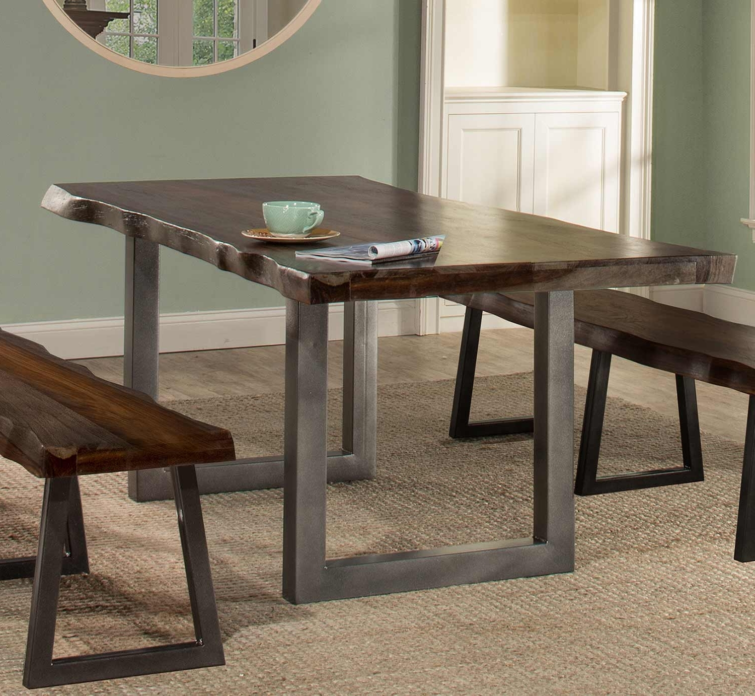 Hillsdale Emerson Rectangle Dining Table – Gray Sheesham 5925Dt In Latest Sheesham Dining Tables (View 13 of 25)