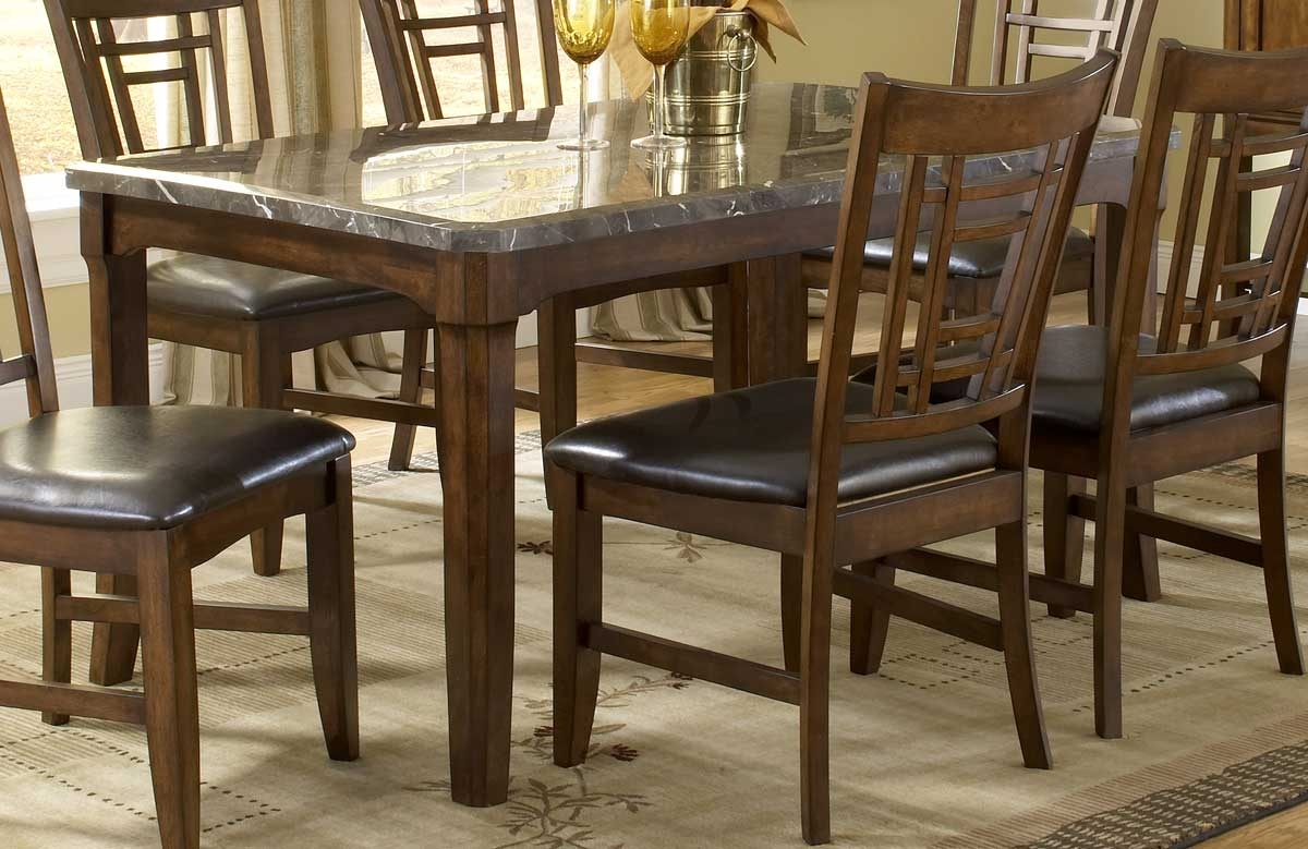 Hillsdale Patterson Rectangle Marble Top Dining Table 4078 814 Regarding Recent Patterson 6 Piece Dining Sets (Gallery 7 of 25)