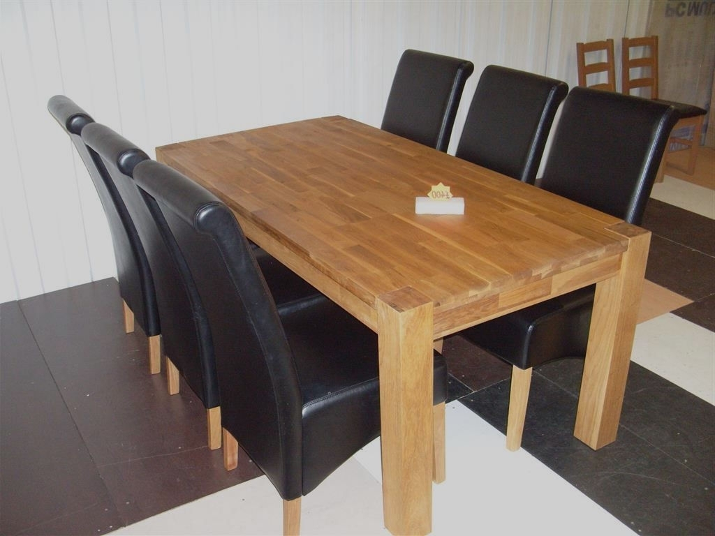 Hoh Hadlow Solid Oak 180Cm Dining Table & 6 Schreiber Dining Chairs In Trendy 180Cm Dining Tables (Gallery 1 of 25)