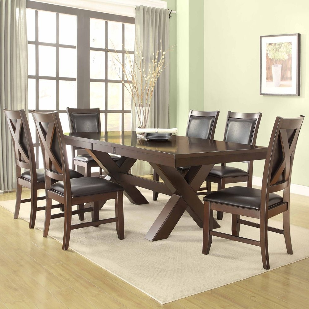 , Home & Art Furniture Dining Collections Regarding Most Popular Laurent 7 Piece Rectangle Dining Sets With Wood And Host Chairs (View 3 of 25)