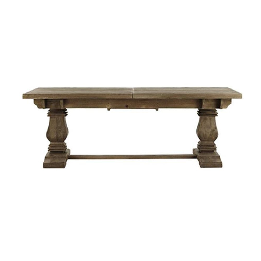 Home Decorators Collection Aldridge Antique Grey Extendable Dining with regard to Most Recently Released Grey Dining Tables