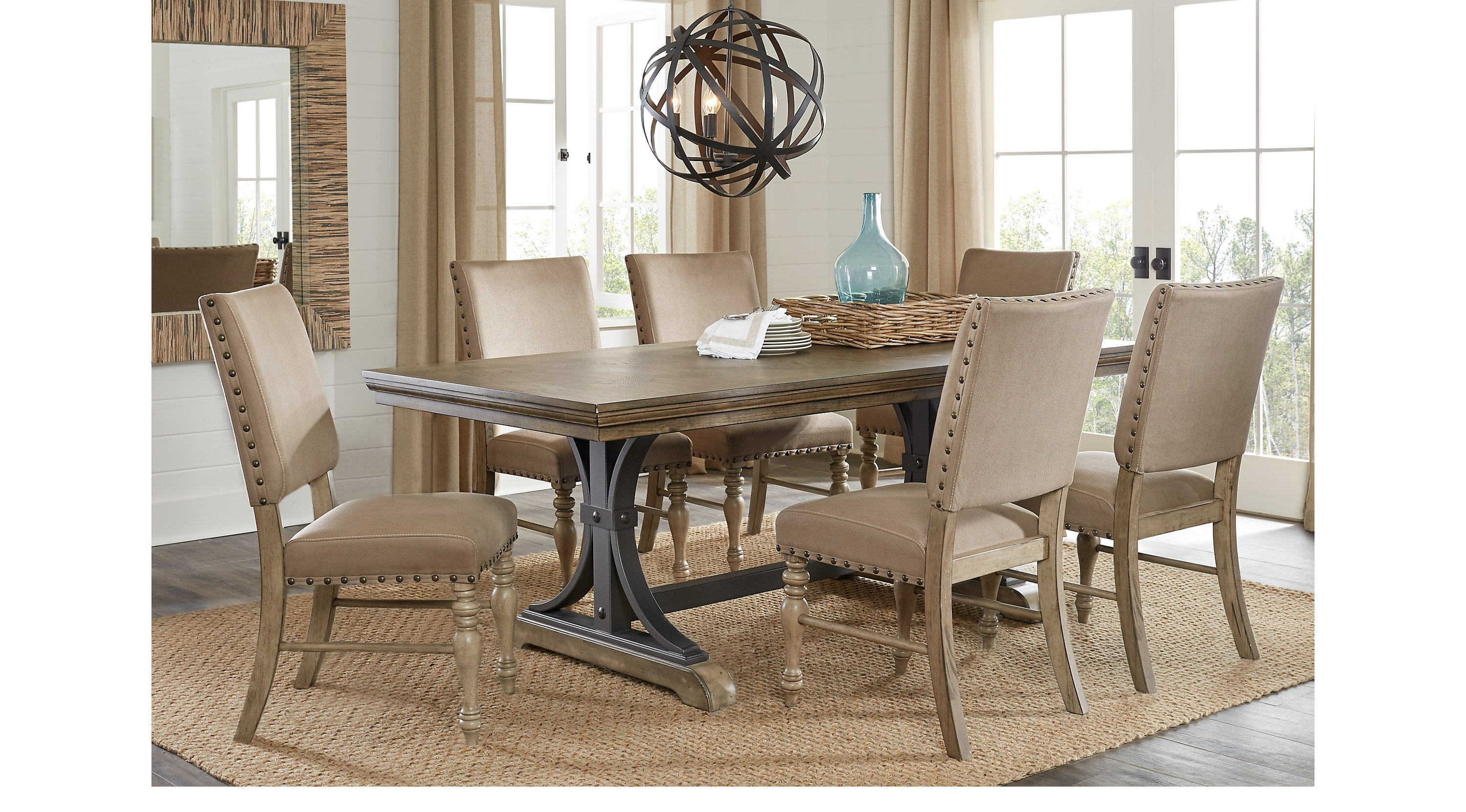 Home Design Decorating Ideas With Jaxon 7 Piece Rectangle Dining Sets With Wood Chairs (View 23 of 25)