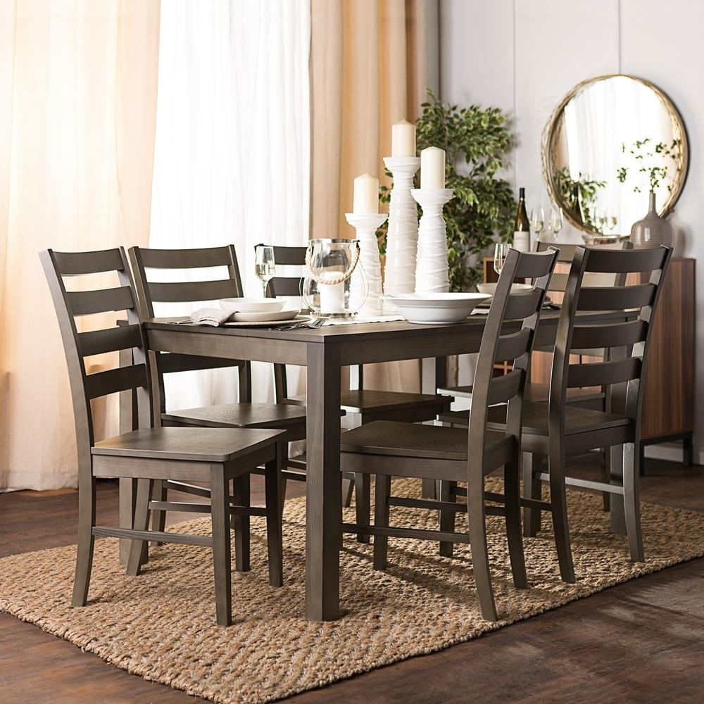 Home Design Ideas in Well known Jaxon Grey 6 Piece Rectangle Extension Dining Sets With Bench & Wood Chairs