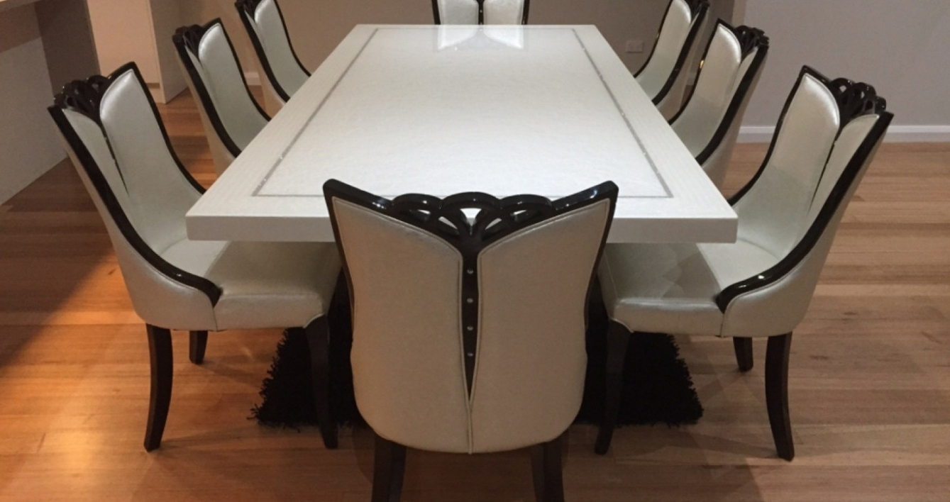 Home Starfin Throughout 8 Seater Round Dining Table And Chairs (View 16 of 25)