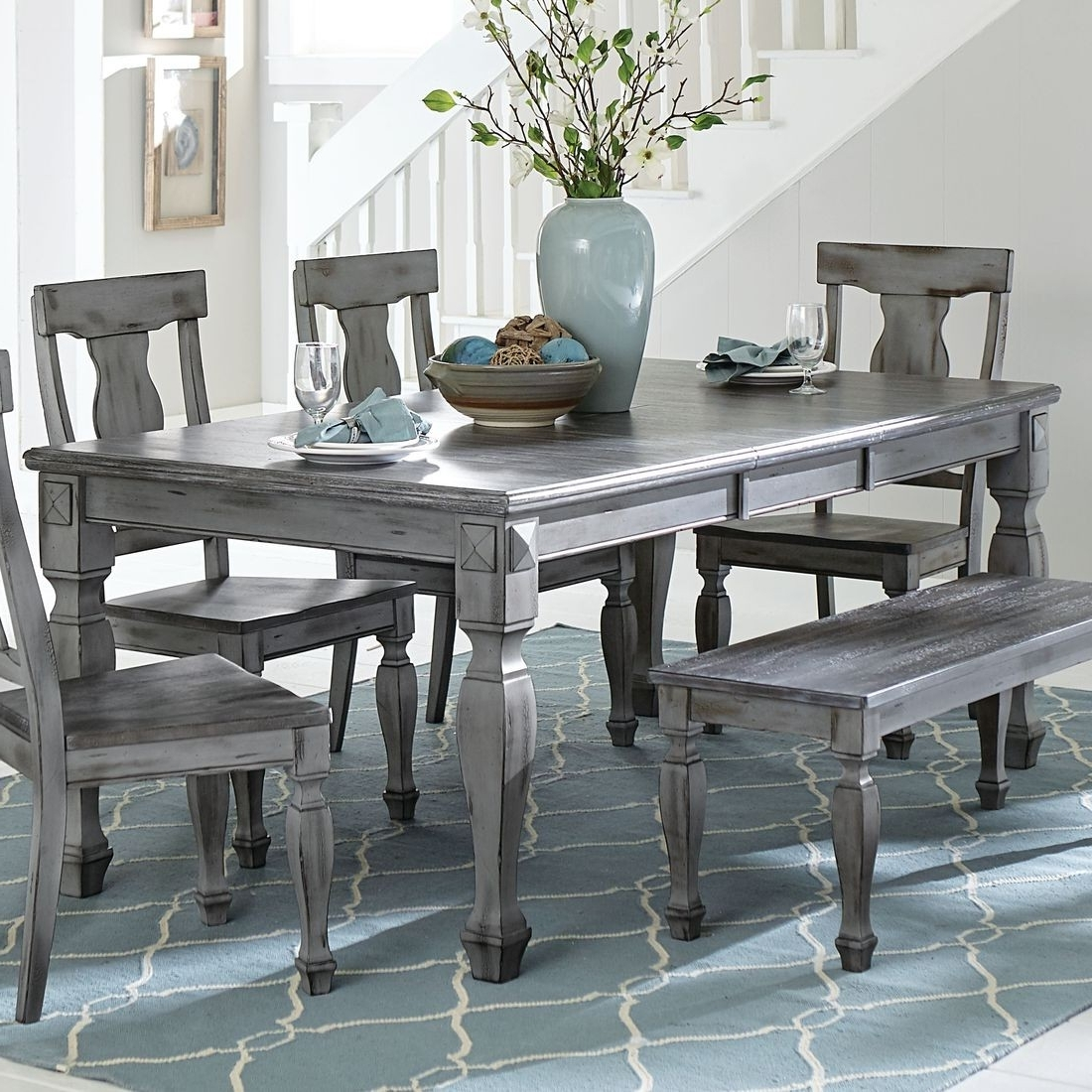 Homelegance Fulbright Dining Table In Antique Grey (Gallery 18 of 25)