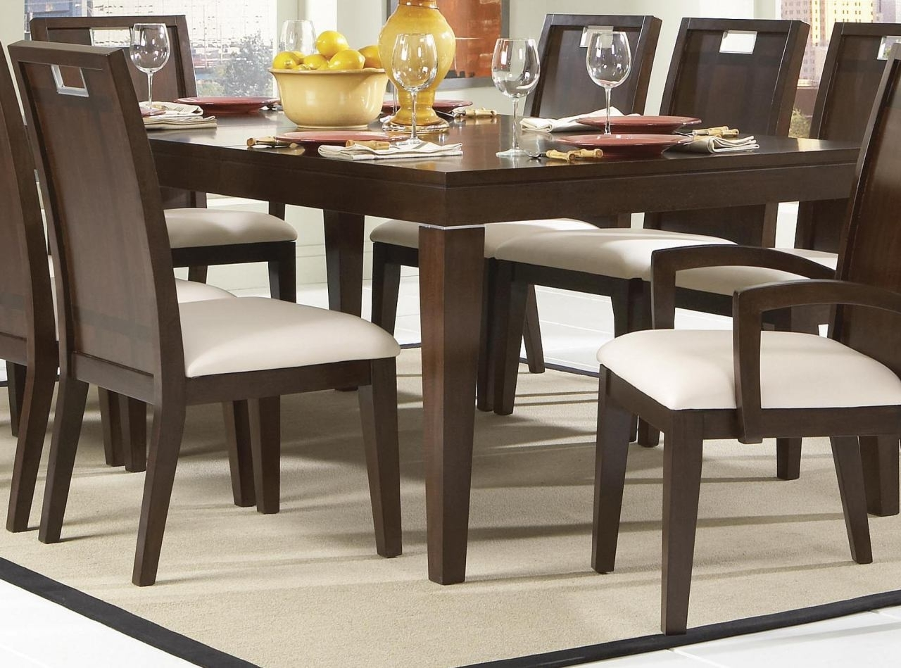 Homelegance Keller Dining Table In Dark Brown Cherry 1330-102 pertaining to Most Up-to-Date Dark Dining Tables
