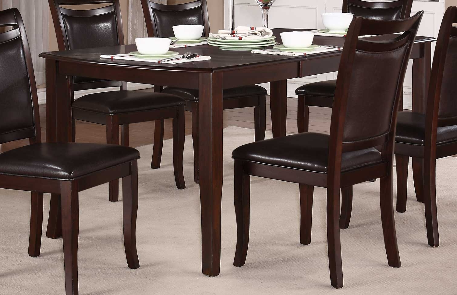 Homelegance Maeve Dining Table – Dark Cherry 2547 72 Intended For Popular Dark Dining Tables (View 11 of 25)