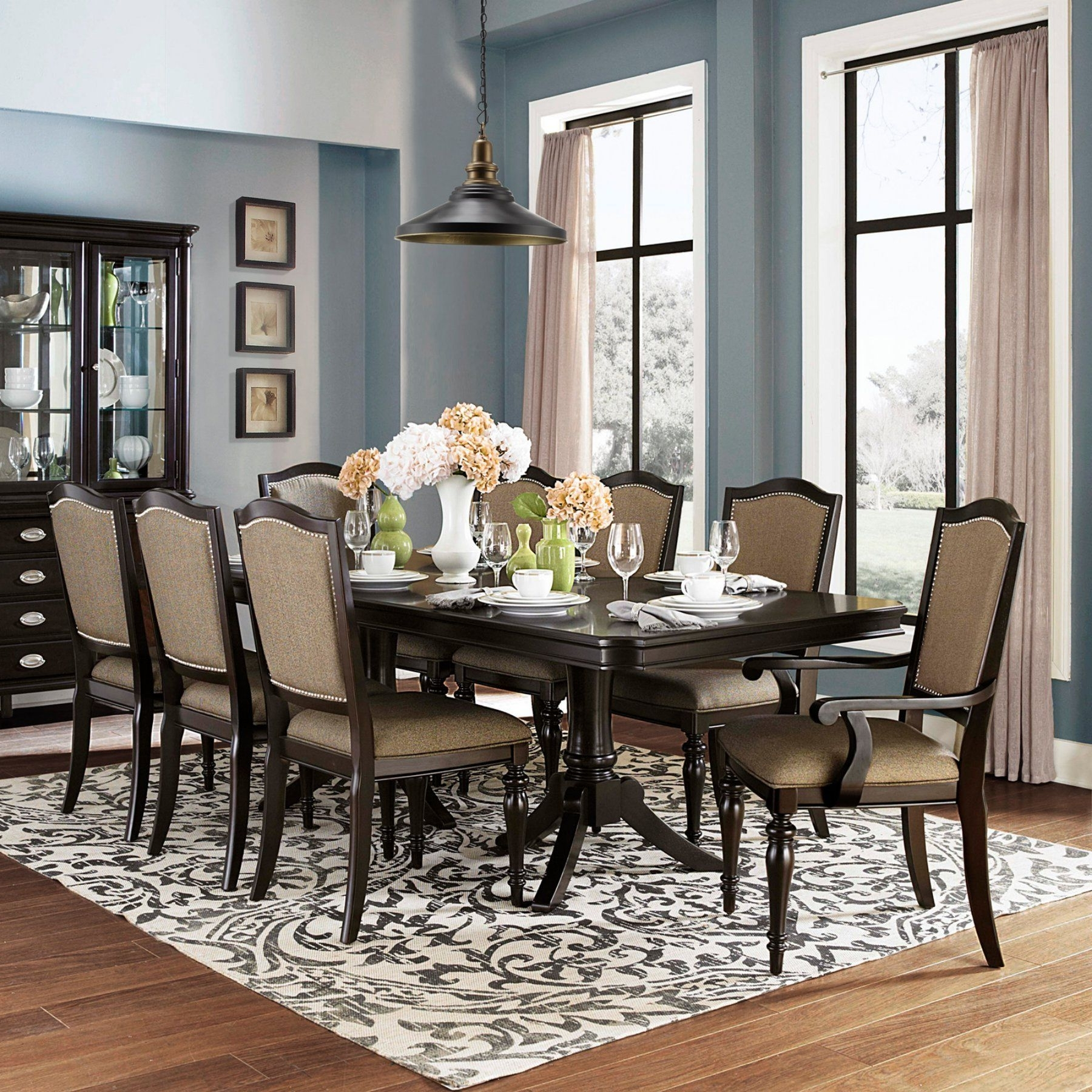 [%Homelegance Marston 9 Piece Extendable Dining Set – 2615Dc 96[9Pc With 2017 Craftsman 9 Piece Extension Dining Sets With Uph Side Chairs|Craftsman 9 Piece Extension Dining Sets With Uph Side Chairs Intended For Latest Homelegance Marston 9 Piece Extendable Dining Set – 2615Dc 96[9Pc|2017 Craftsman 9 Piece Extension Dining Sets With Uph Side Chairs Intended For Homelegance Marston 9 Piece Extendable Dining Set – 2615Dc 96[9Pc|Well Known Homelegance Marston 9 Piece Extendable Dining Set – 2615Dc 96[9Pc In Craftsman 9 Piece Extension Dining Sets With Uph Side Chairs%] (View 2 of 25)