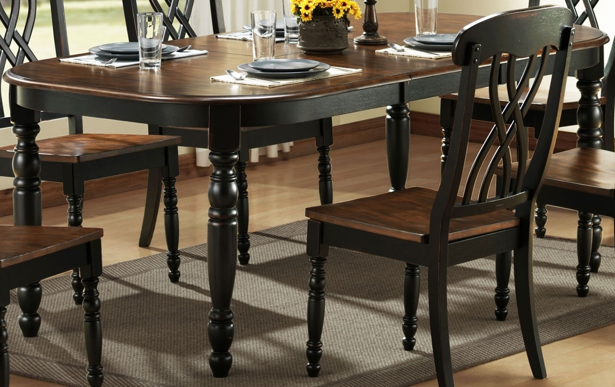 Homelegance Ohana Black Dining Table 1393Bk 78 In Best And Newest Black Dining Tables (View 5 of 25)