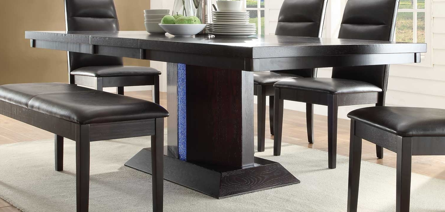 Homelegance Pulse Dining Table With Led Light – Espresso? 2579 78 With Most Recent Led Dining Tables Lights (View 6 of 25)