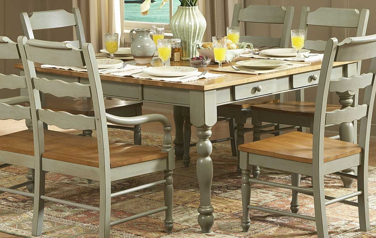 Homelegance Sedgefield Dining Table With Drawers-Green 751G for Favorite Green Dining Tables