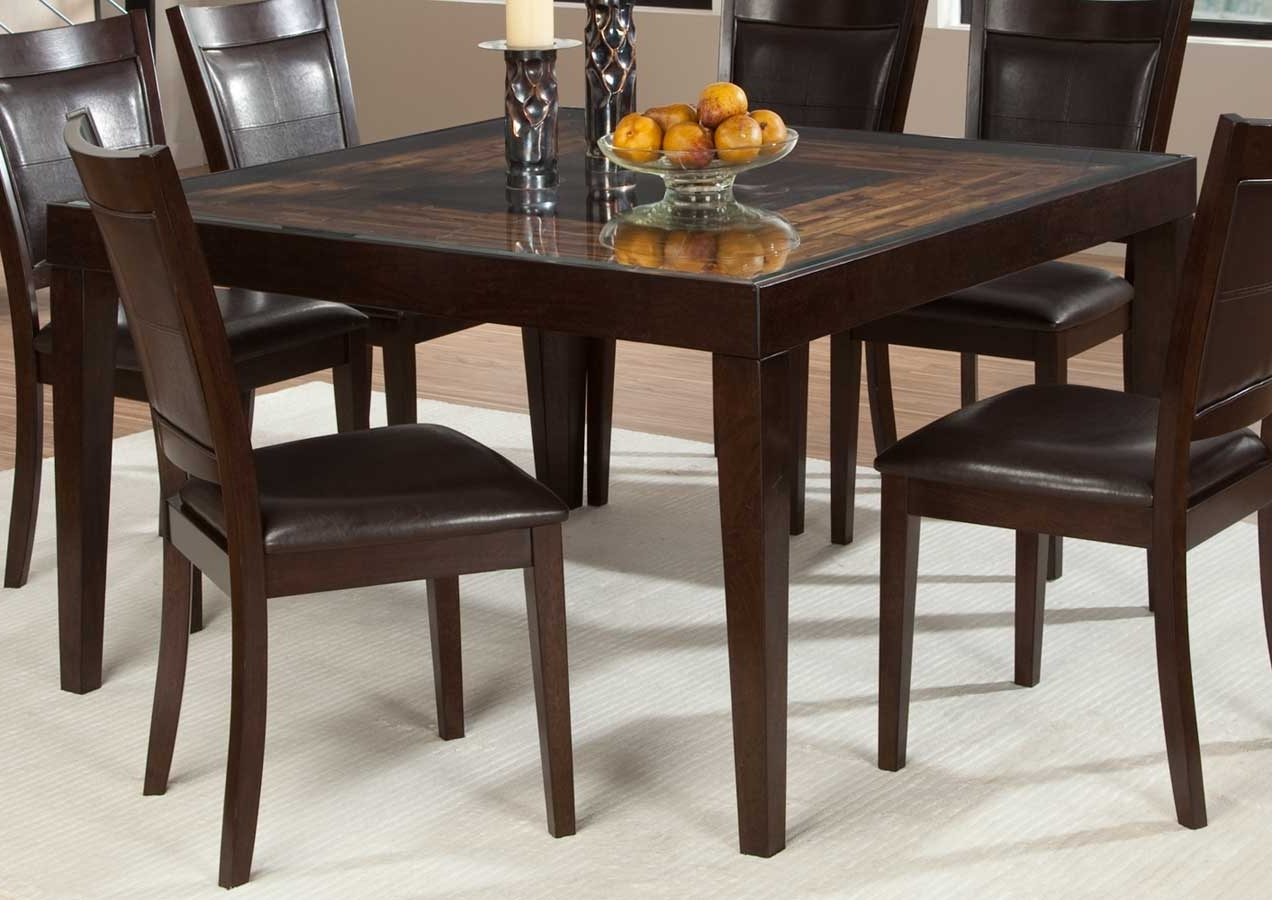 Homelegance Vincent Square Dining Table – Mango And Acacia Wood 3299 Pertaining To Most Up To Date Square Dining Tables (Gallery 4 of 25)