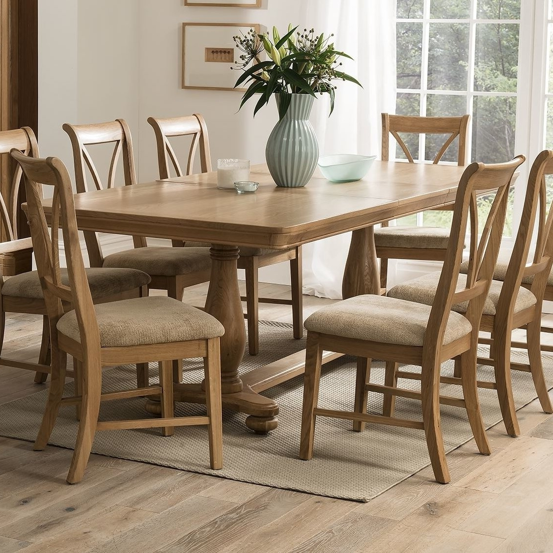 Homestead Living Rowan Extendable Dining Table And 6 Chairs With 2018 Extendable Dining Table And 6 Chairs (View 9 of 25)