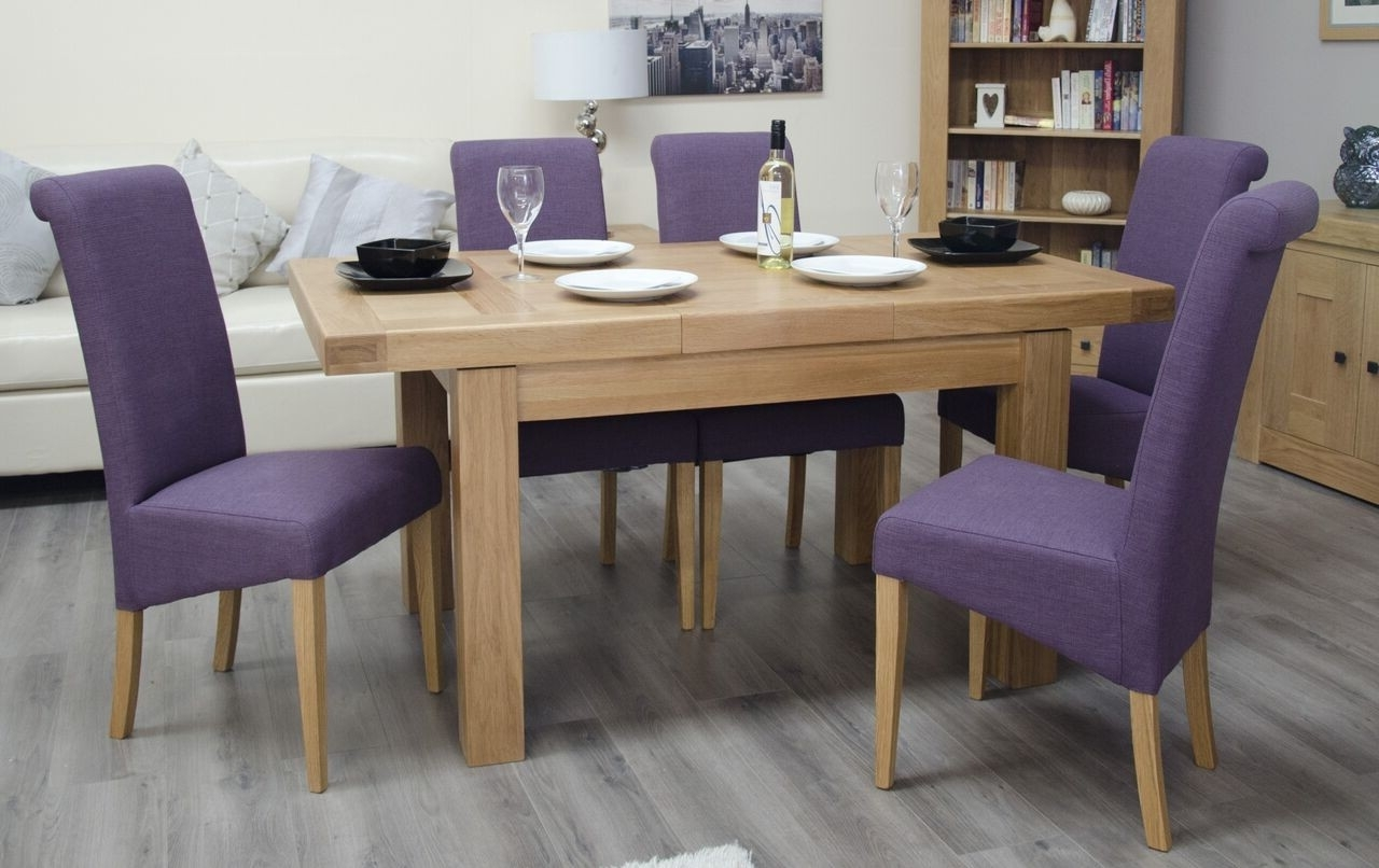 Homestyle Bordeaux White Oak Small Extending Dining Table From The for Trendy Small White Extending Dining Tables