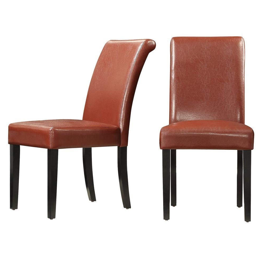 Homesullivan Fairfield Red Faux Leather Dining Chair (Set Of 2 in 2017 Red Leather Dining Chairs