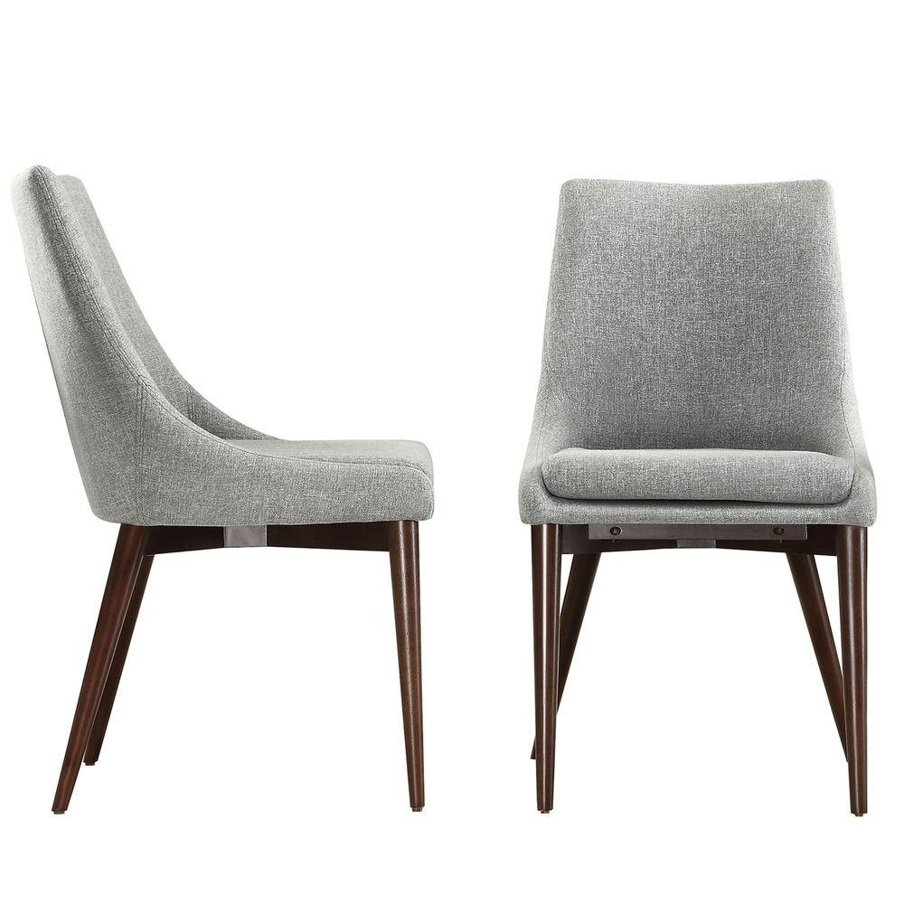 Homesullivan Nobleton Cool Grey Dining Chair (Set Of 2) 405048S2Pc Within Latest Grey Dining Chairs (View 11 of 25)
