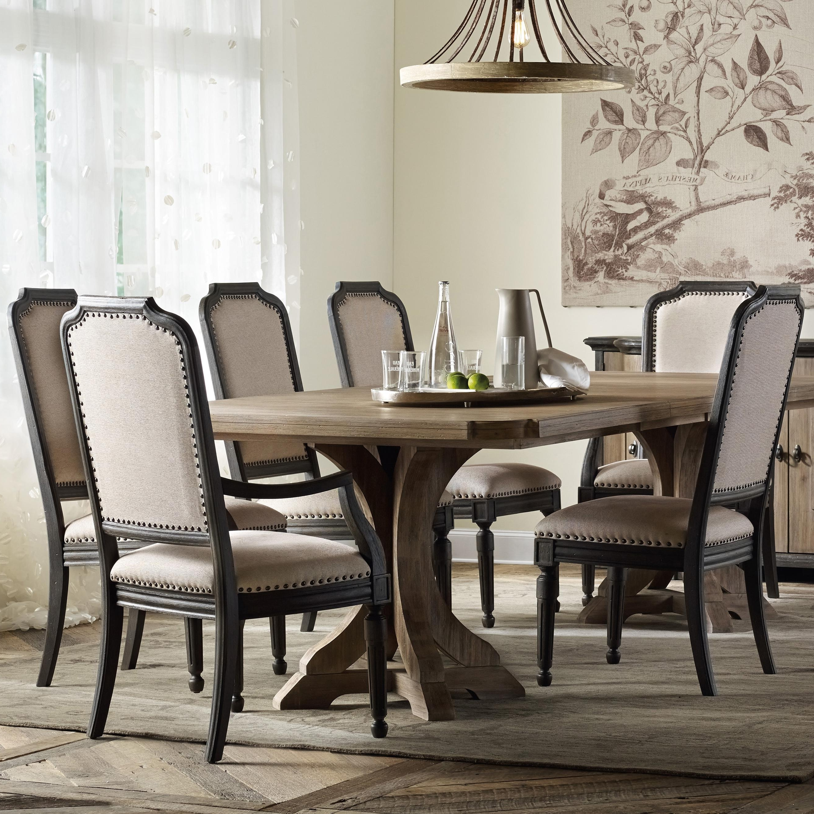 Hooker Furniture Corsica Rectangle Pedestal Dining Table Set With For 2018 Pedestal Dining Tables And Chairs (View 8 of 25)