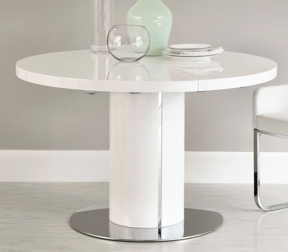 House Ideas Within Well Known White Gloss Round Extending Dining Tables (View 13 of 25)