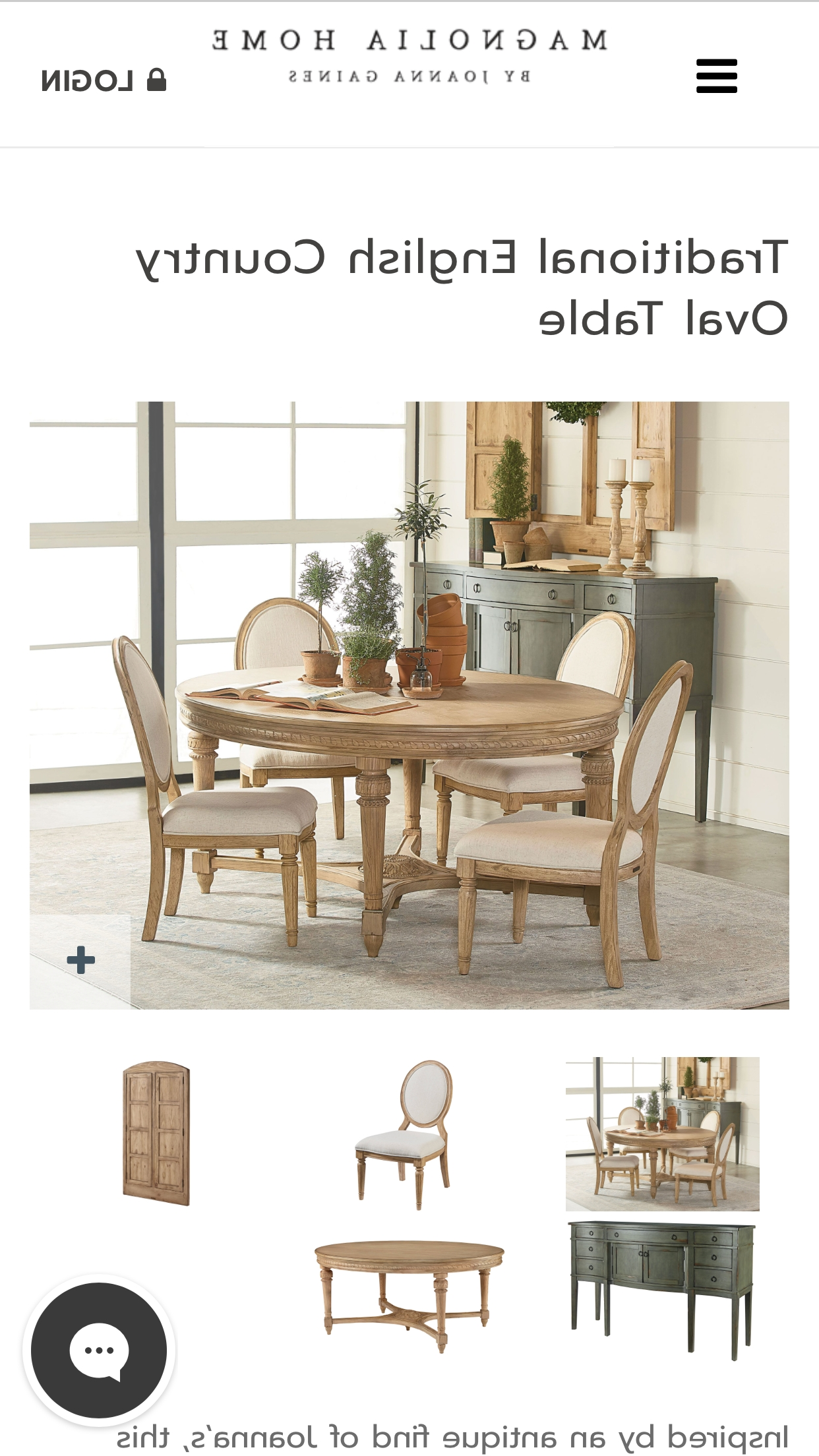 House with Most Popular Magnolia Home English Country Oval Dining Tables