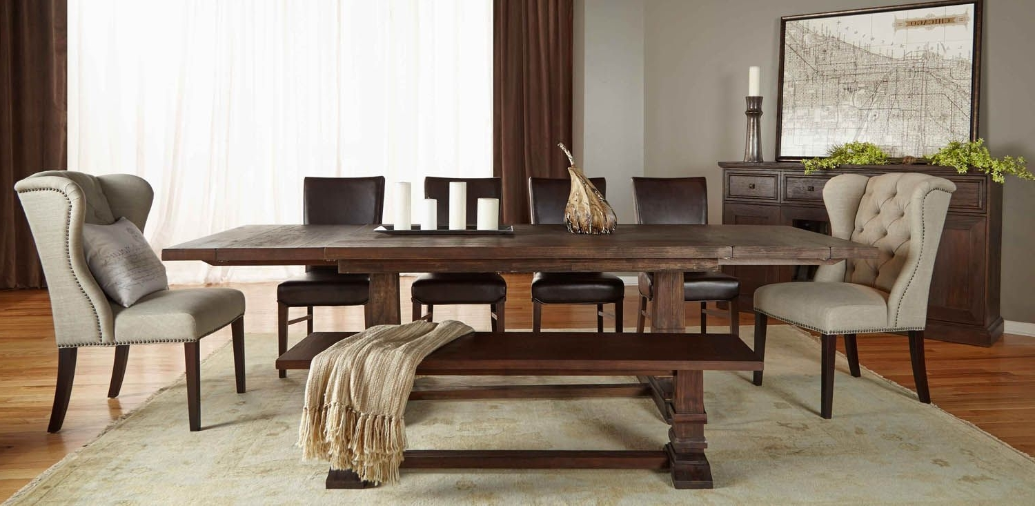 Hudson Dining Tables And Chairs In Most Up To Date Orient Express Hudson Rustic Java Rectangular Extendable Trestle (View 24 of 25)