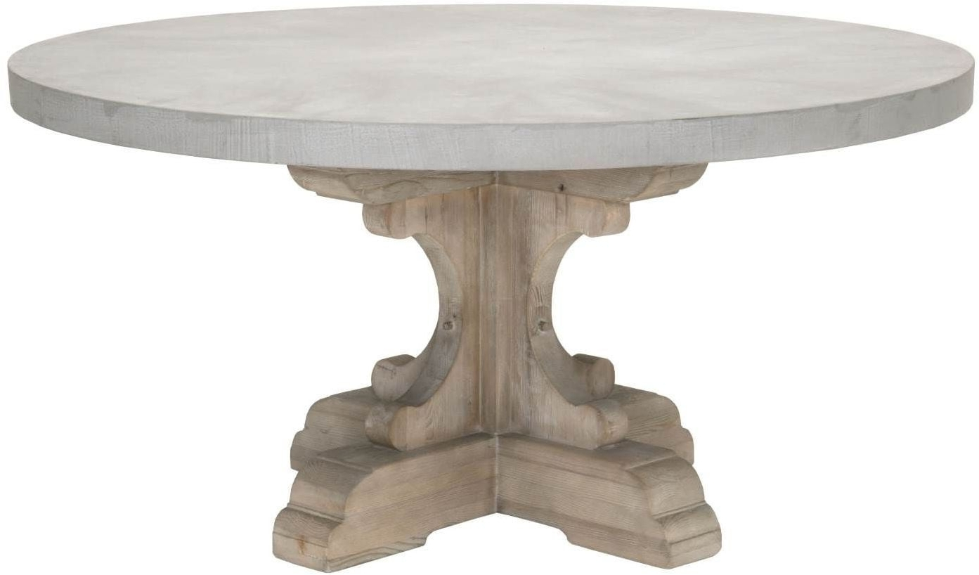 Hudson Round Dining Tables inside Best and Newest Bastille Concrete Top Round Dining Table From Orient Express