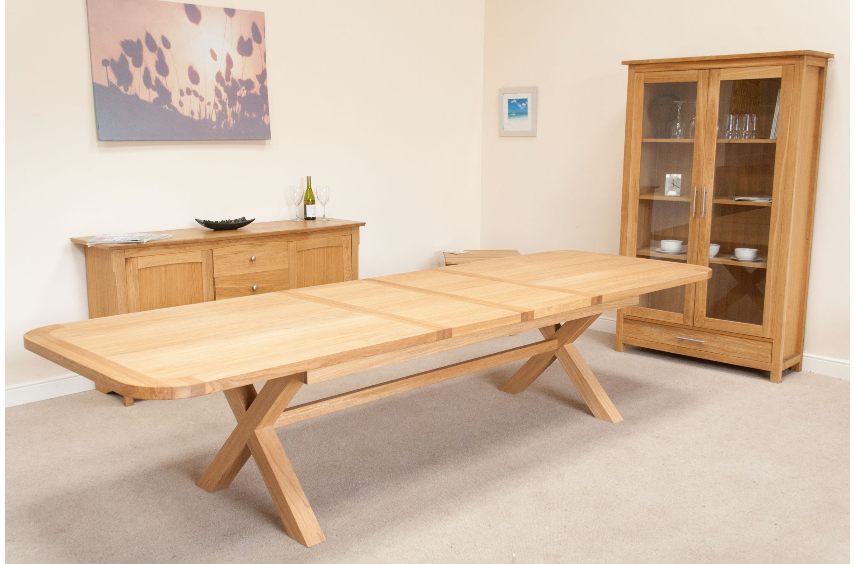 Huge Big Tables intended for Best and Newest Extending Oak Dining Tables And Chairs