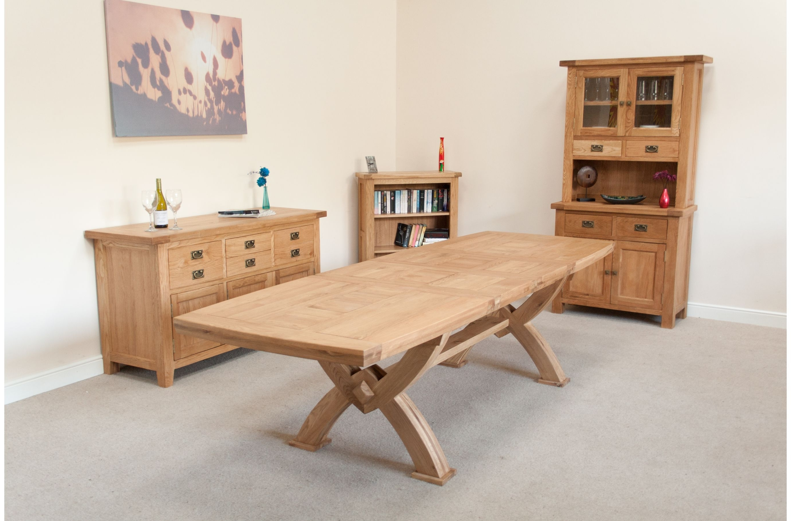 Huge Big Tables throughout Chunky Solid Oak Dining Tables And 6 Chairs