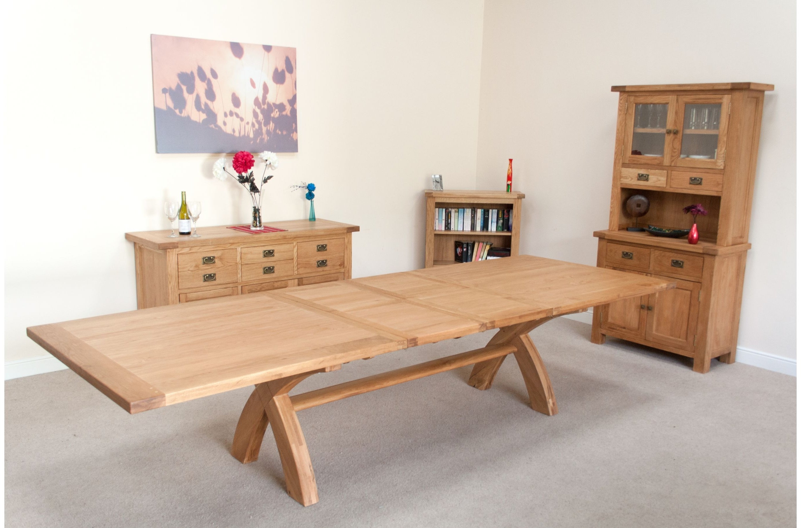 Huge Big Tables With Regard To Widely Used Extending Oak Dining Tables And Chairs (View 14 of 25)