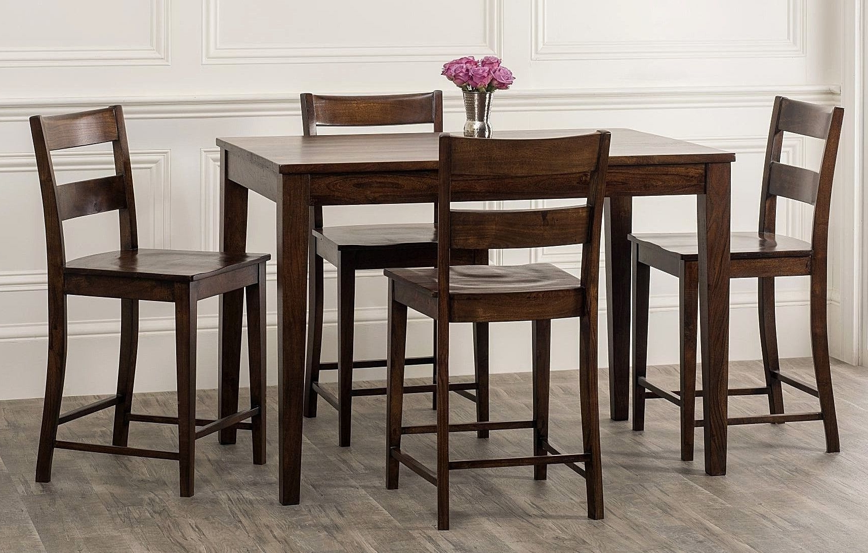 Hyland 5 Piece Counter Sets With Bench In Most Popular Kristopher 5 Piece Counter Height Dining Set (Gallery 19 of 25)