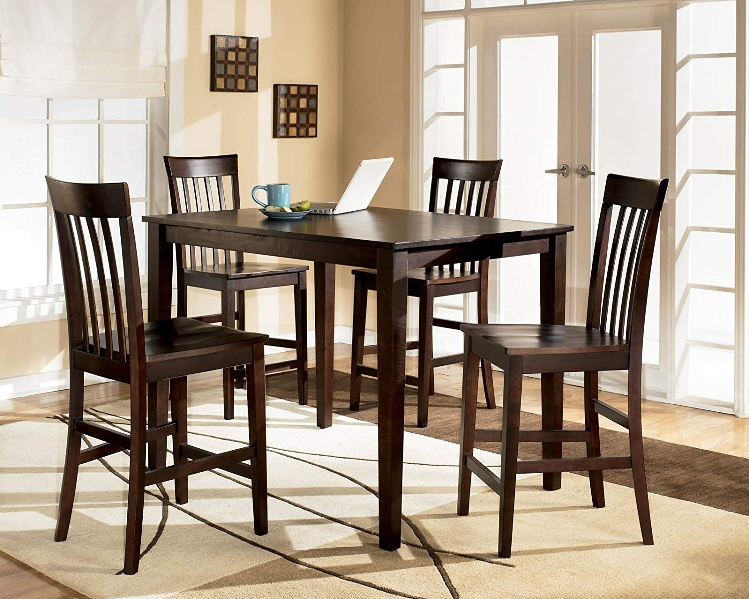 Hyland 5 Piece Counter Sets With Stools Throughout Trendy Amazon – Ashley Hyland D258 223 5 Piece Dining Room Set With 1 (Gallery 1 of 25)