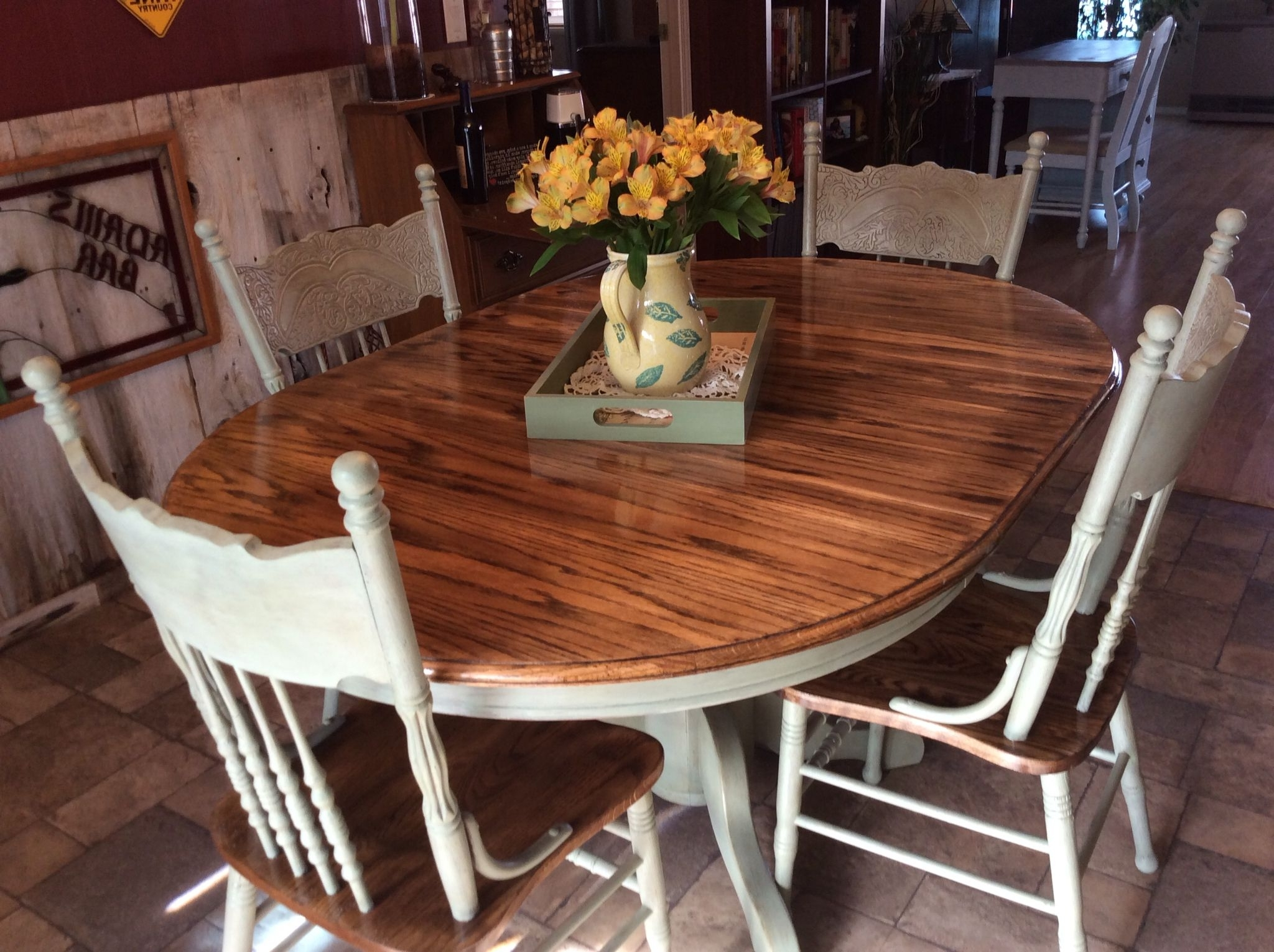 I Rescued And Restored This Beautiful Solid Oak Table And Chairs With Well Liked Light Oak Dining Tables And Chairs (View 5 of 25)