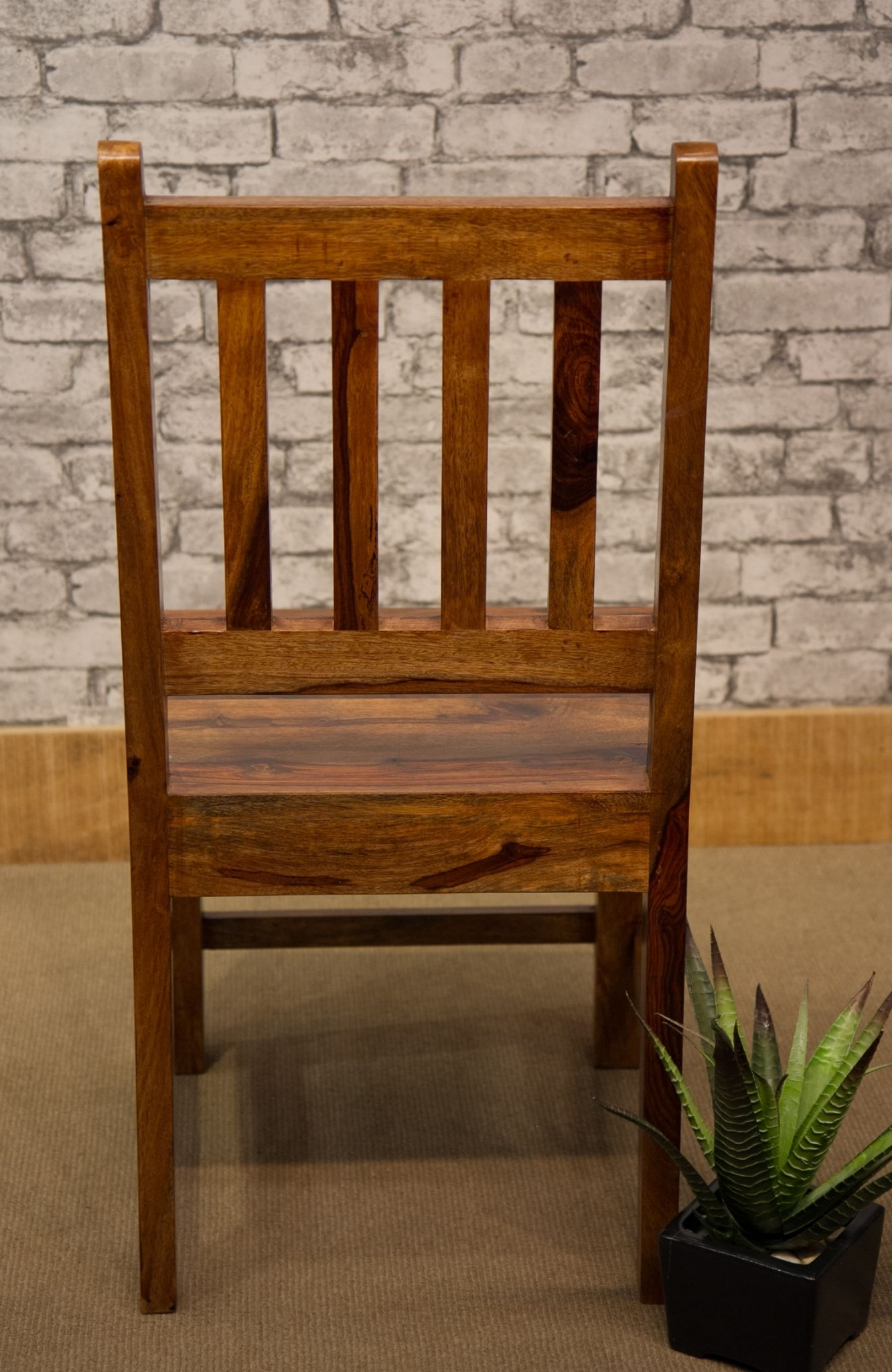 Ibf 049 Low Slat Back Sheesham Dining Chair Inside Most Recently Released Sheesham Dining Chairs (Gallery 19 of 25)