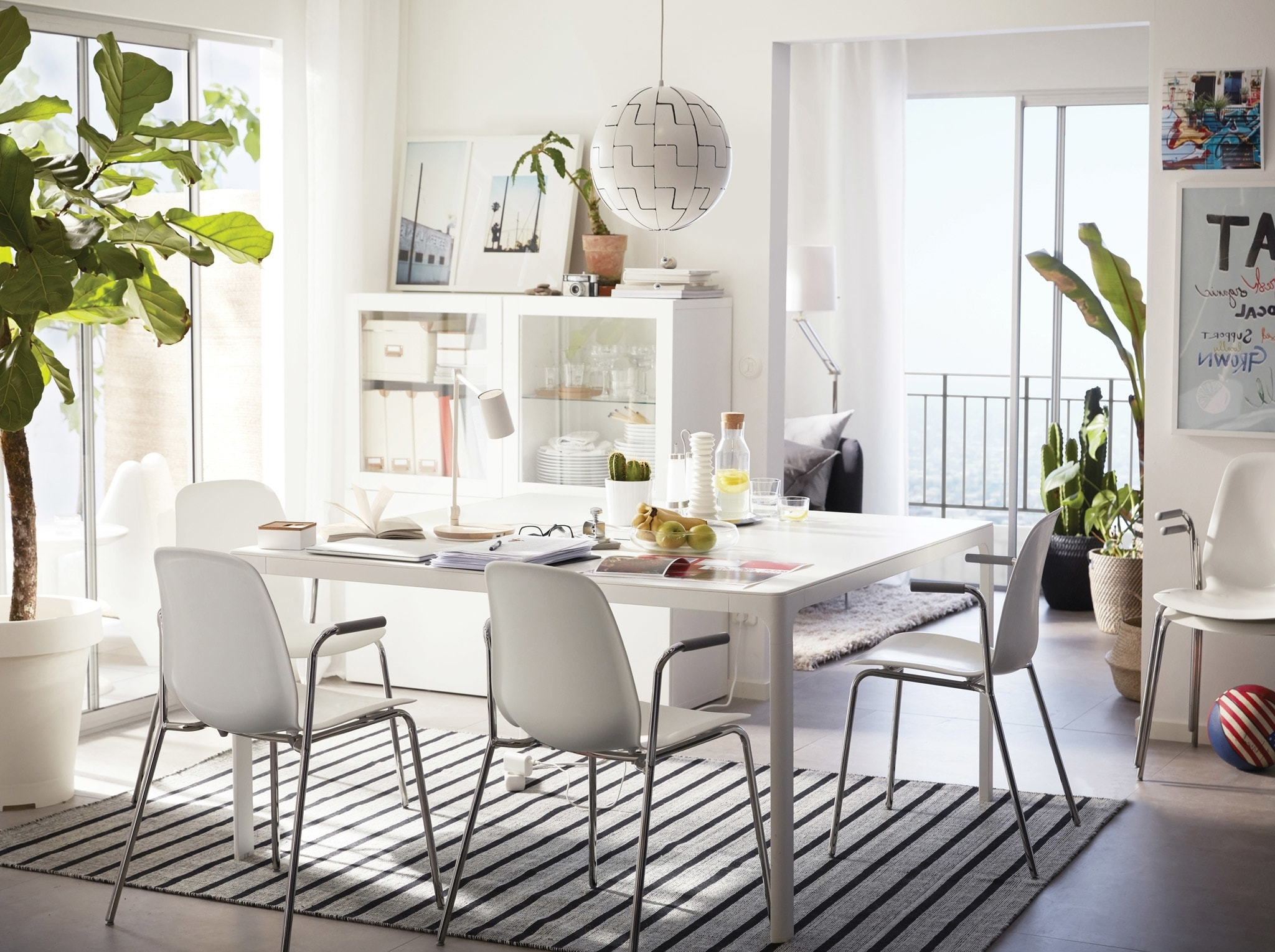 Ikea Intended For White Dining Tables And Chairs (Gallery 9 of 25)