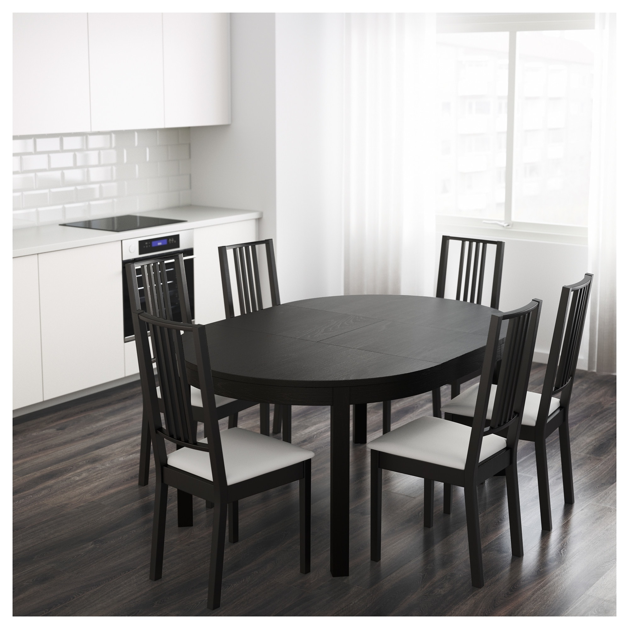 Ikea Round Dining Tables Set Regarding Trendy Bjursta Extendable Table – Ikea (View 11 of 25)