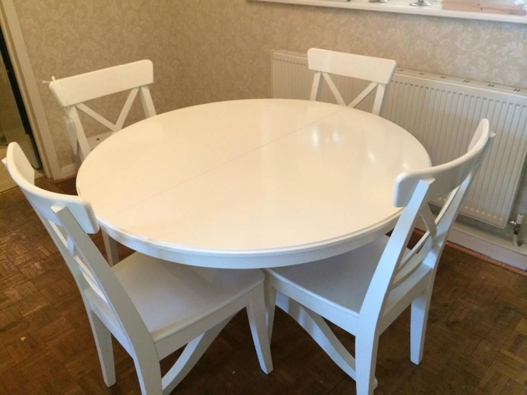 Ikea Round Glass Top Dining Tables With Regard To Well Known Dining Table Ikea — Jherievans (View 7 of 25)
