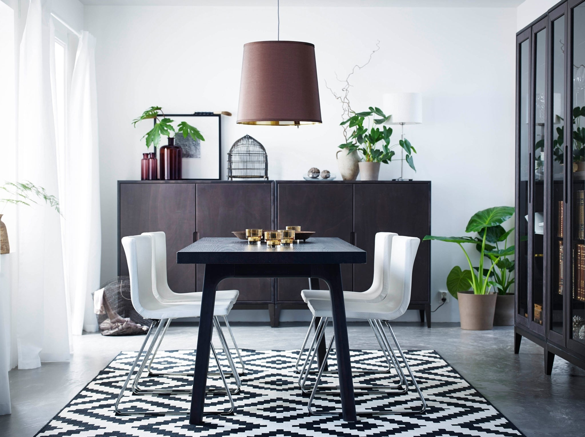 Ikea Round Glass Top Dining Tables within Well-known Dining Room Furniture & Ideas