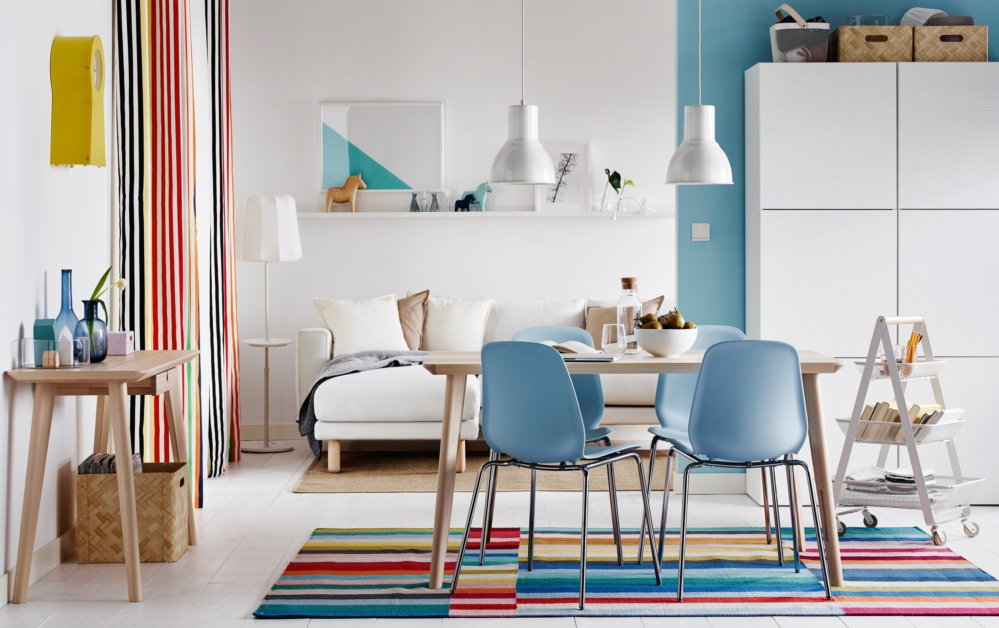 Ikea With Trendy Colourful Dining Tables And Chairs (Gallery 4 of 25)