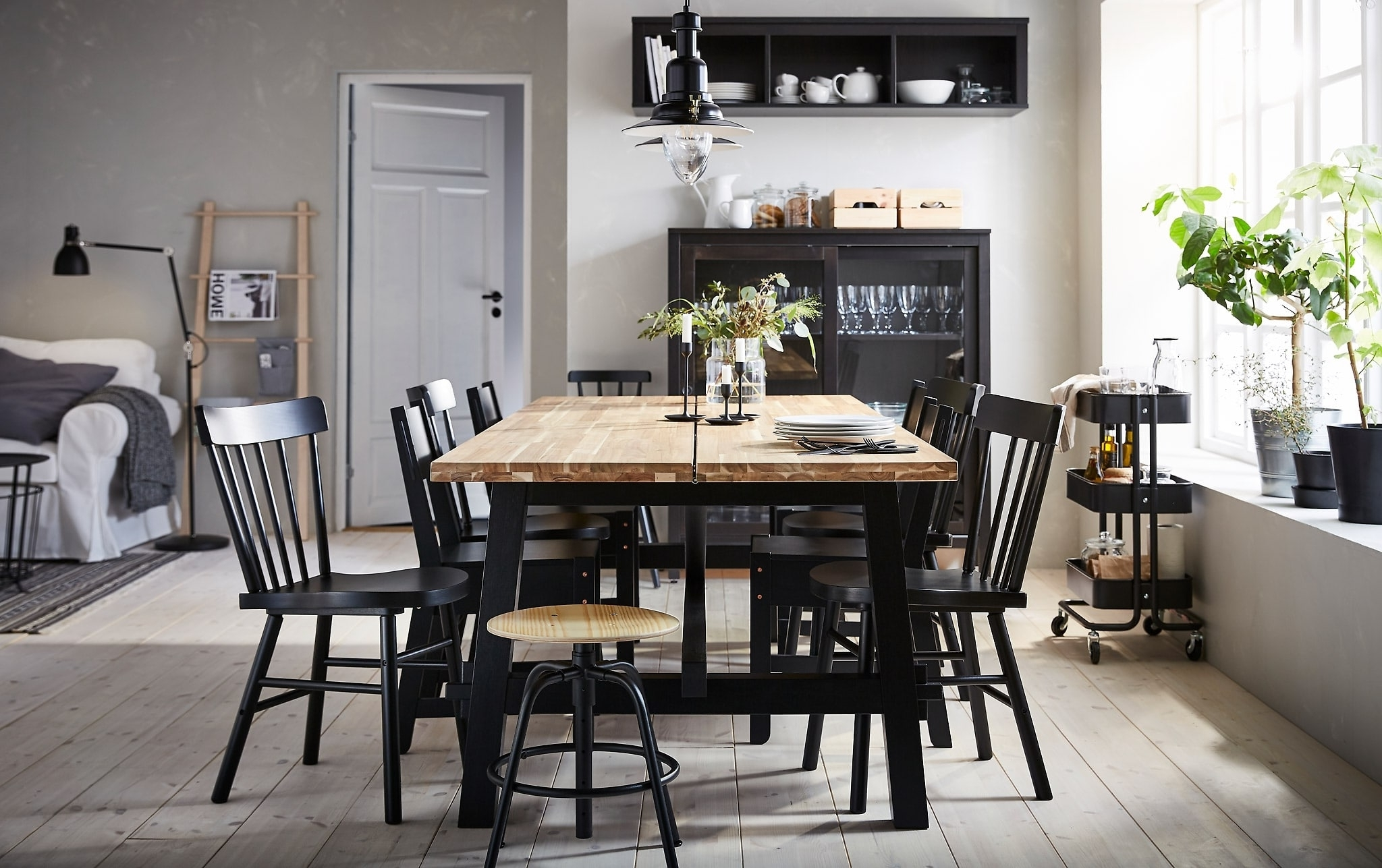 Ikea Within Black Wood Dining Tables Sets (View 13 of 25)