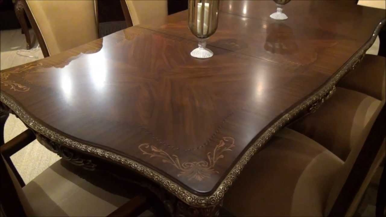 Imperial Dining Tables Pertaining To Best And Newest Imperial Court Rectangular Leg Dining Tablemichael Amini (View 17 of 25)