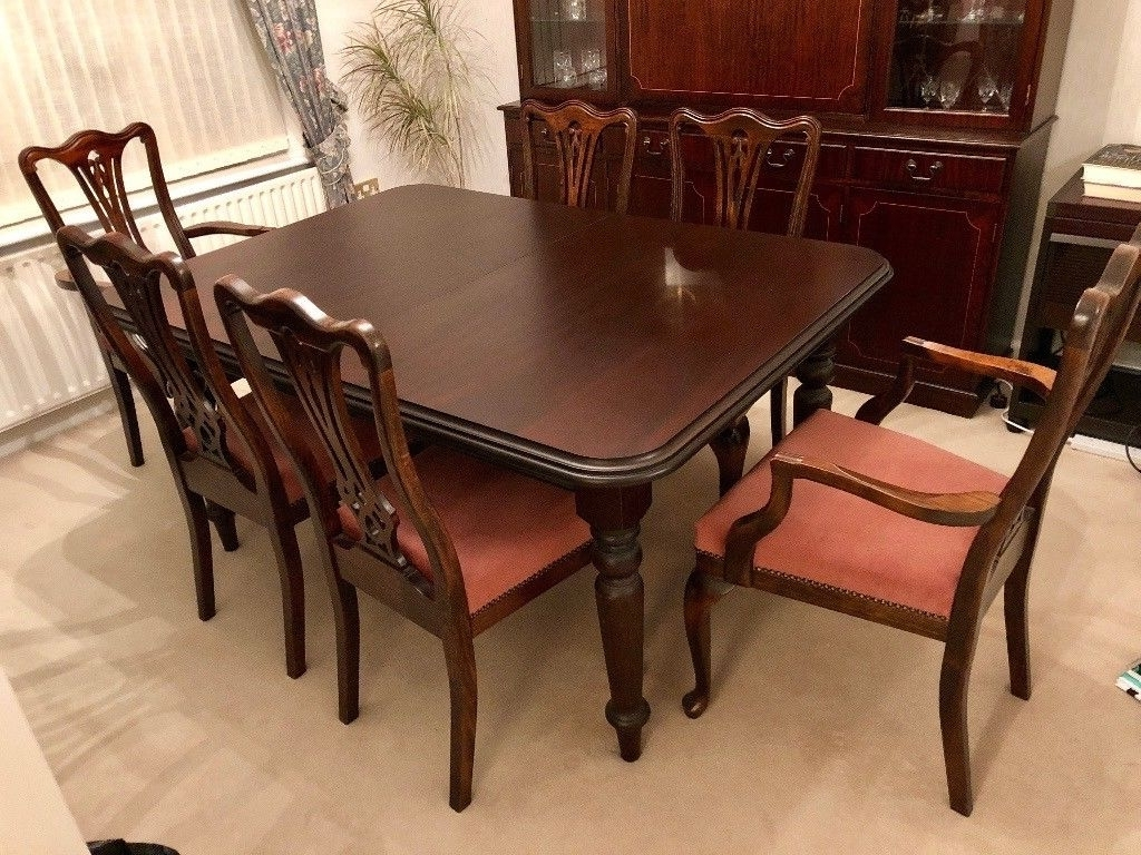 In Christchurch Within Dark Wood Dining Tables And 6 Chairs (Gallery 16 of 25)