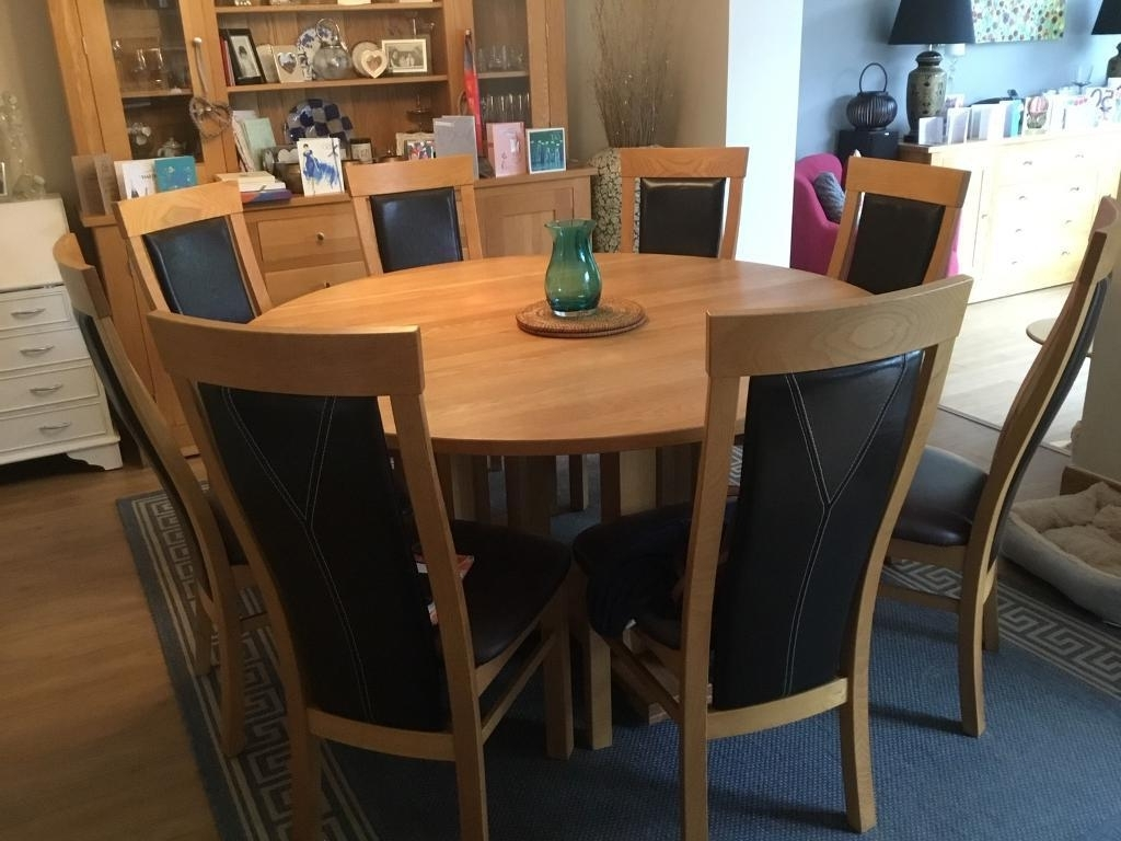 In Chudleigh, Devon Pertaining To Most Popular Oak Dining Tables And 8 Chairs (View 7 of 25)