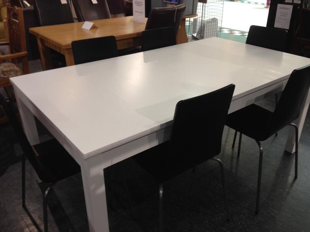 In County with White Extending Dining Tables And Chairs