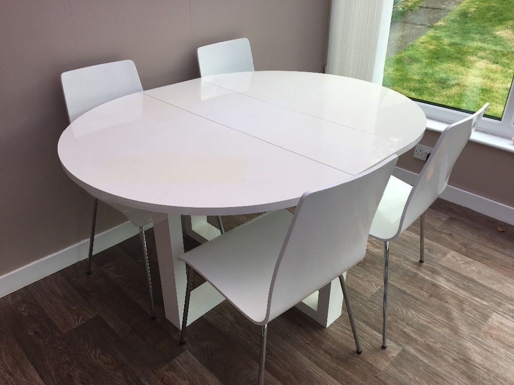 In For Recent Oval White High Gloss Dining Tables (View 6 of 25)