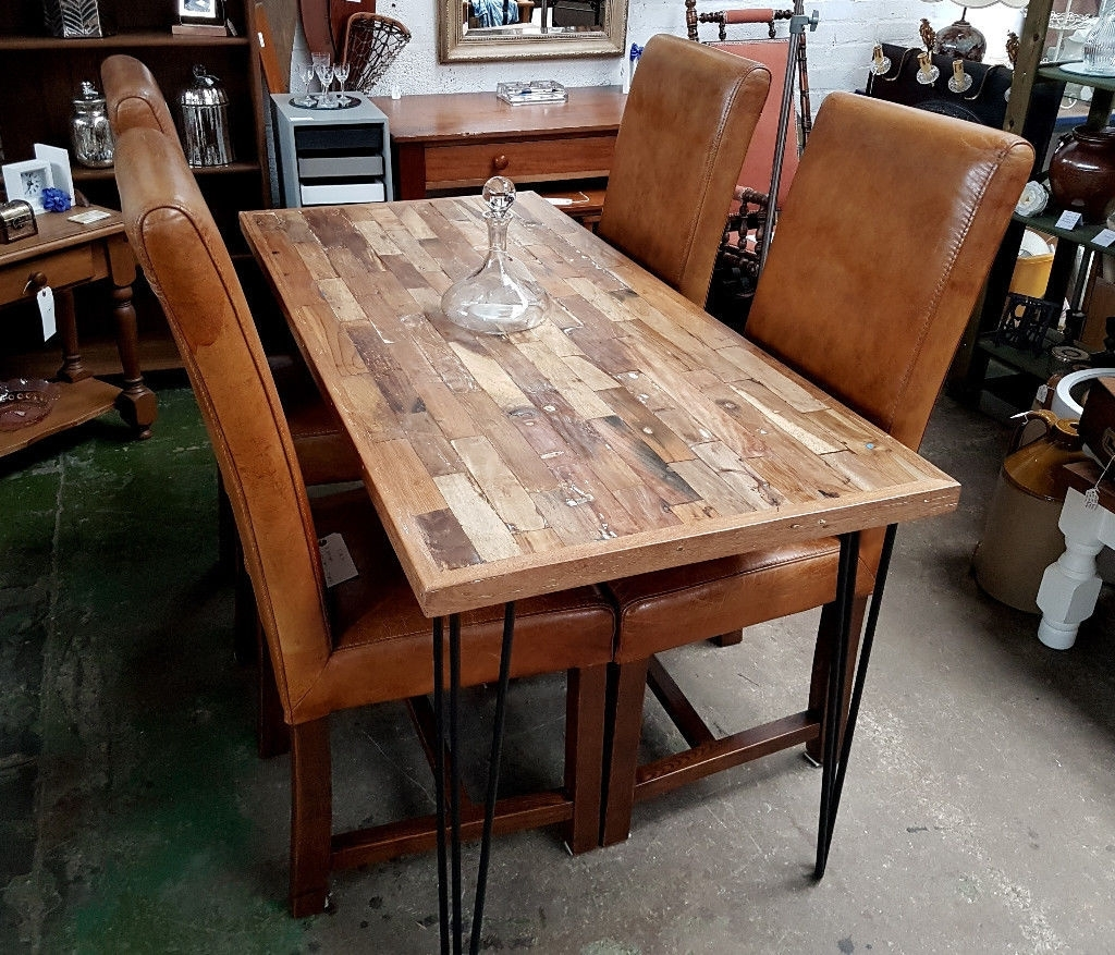 In intended for Current Industrial Style Dining Tables